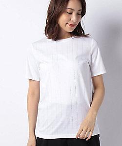 LA JOCONDE(Women)/ラ ジョコンダ 【洗える】ラインストーンTシャツ