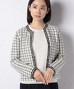 MADAM JOCONDE(Women)/マダム ジョコンダ ブレード使い ファンシーニットジャケット