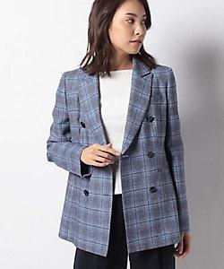 LA JOCONDE(Women)/ラ ジョコンダ 先染チェック ダブルブレストジャケット