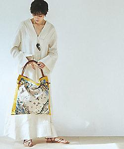 TOPKAPI(Women)/トプカピ マイルドサテンスカーフパネル柄トートバッグ