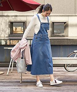 CARA O CRUZ(Women)/キャラ・オ・クルス デニムのサロペットスカート