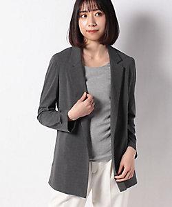 LAPINE BLEUE(Women)/ラピーヌブルー 【洗える】ボタンレス テーラードジャケット