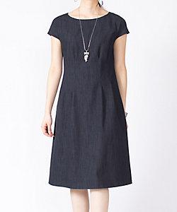 MISS J(Women)/ミスジェイ 【セットアップ対応】【洗える】コットンデニム タックドレス