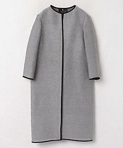 LANVIN COLLECTION(Women)/ランバンコレクション ノーカラーロングジャケット