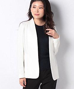 JOCONDE ROYAL(Women)/ジョコンダ ロイヤル コンパクトコットン ノーカラージャージージャケット