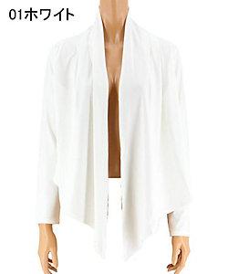 San-ai Resort(Women)/サンアイ リゾート <Coral veil>Solid ショート丈羽織