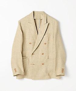 メランジリネン ダブルブレストジャケット