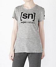 三越・伊勢丹/公式 <エスエヌ スーパーナチュラル/[sn] super. natural> Tシャツ ESSENTIAL iD TEE(SNW004783) Ash Melange/Print