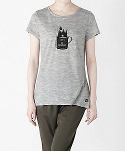 [sn] super.natural(Men)/エスエヌ スーパー・ナチュラル Tシャツ W Print Tee  SPRING(SNW013034)