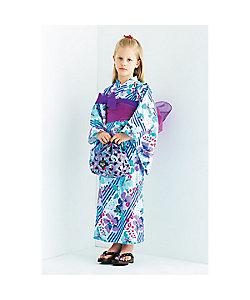 ANNA SUI MINI(Baby&Kids)/アナ スイ・ミニ オリジナルストライプ×花柄 2WAY浴衣