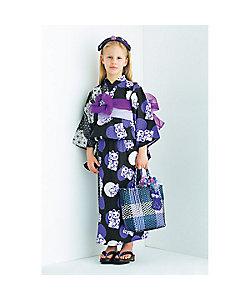 ANNA SUI MINI(Baby&Kids)/アナ スイ・ミニ オリジナル招きネコ×麻の葉柄 2WAY浴衣