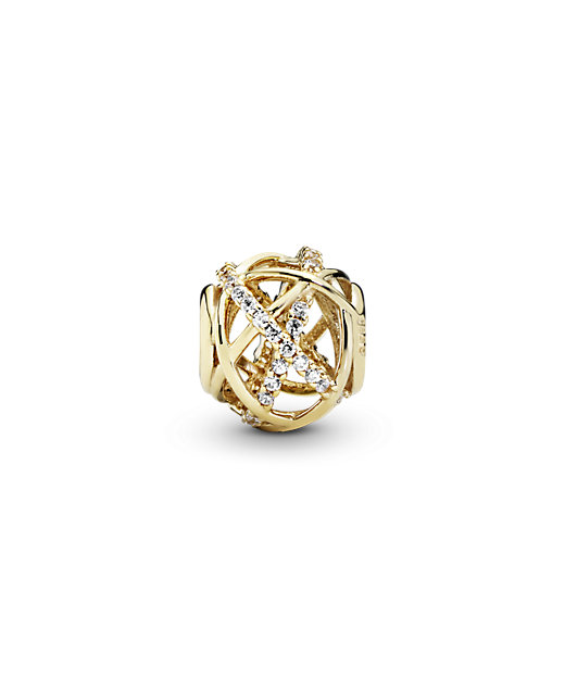 <PANDORA/パンドラ> Openwork abstract gold charm with cubic zirconia【三越伊勢丹/公式】