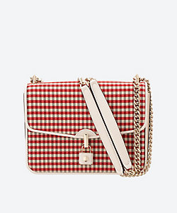 KATE SPADE NEW YORK(Women)/ケイト・スペード ニューヨーク locket plaid large flap shoulder bag