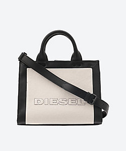 DIESEL(Women)/ディーゼル Mix Mat.with Leather Tote