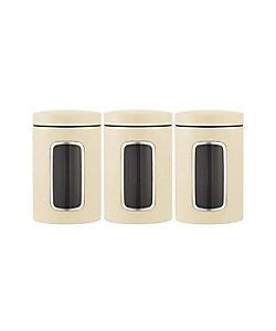 brabantia/ブラバンシア キャニスター窓付 1.4L 3個セット アーモンド