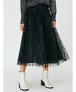 MAX&Co./マックス アンド コー プレメッサ スパンコール ストライプ チュール スカート