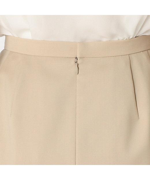 梳毛ウールタイトスカート