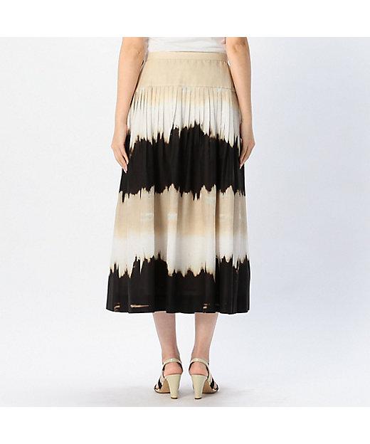 グラデーションプリントスカート