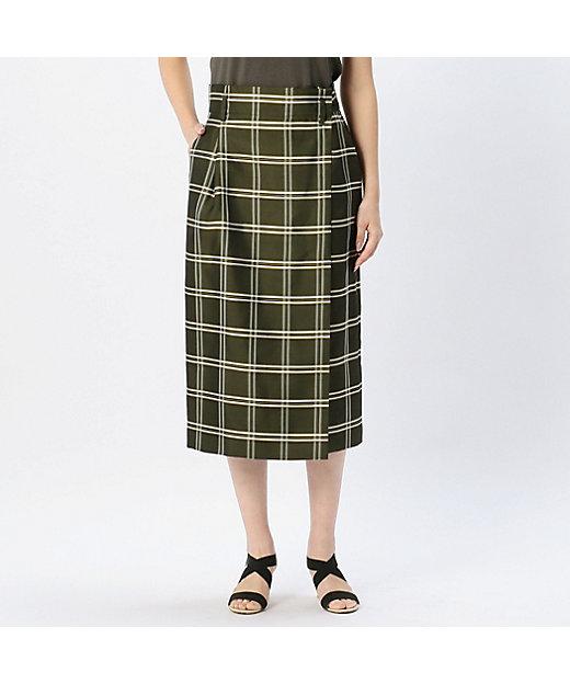 シルクオーガンジーウィンドーペンスカート