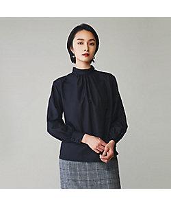 yoshie inaba(Women)/ヨシエ イナバ サンドウオッシュビエラフロントギャザーブラウス