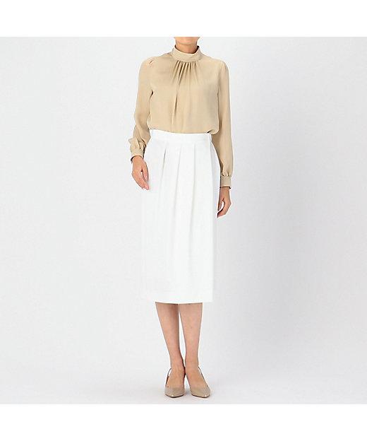 レーヨンウールタイトスカート