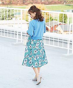 Competito/コンプティート 花柄フレアスカート スモールサイズ