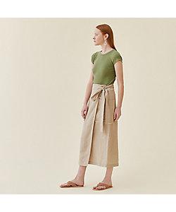 GALERIE VIE(Women)/ギャルリー・ヴィー リネンキュプラシルク ラップミディスカート