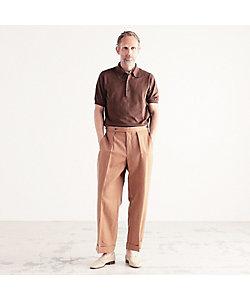 TOMORROWLAND (Men)/トゥモローランド シルクコットン ニットポロシャツ SESIA