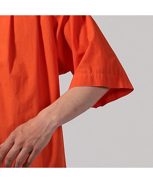 コットンタイプライター ショートスリーブプルオーバーシャツ