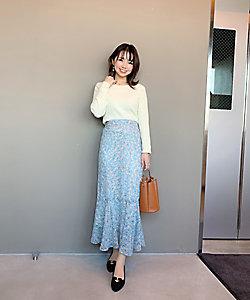 Competito/コンプティート 小花柄マーメイドスカート スモールサイズ