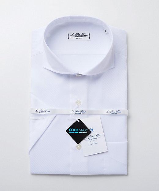 <LA FETE BLEU(Men)/ラフェッタブルー> カッタウェイ半袖ドレスシャツ シロ【三越伊勢丹/公式】