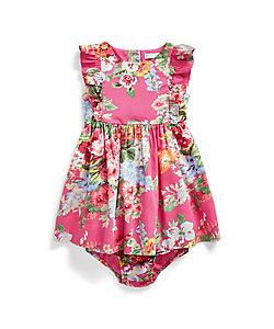 RALPH LAUREN BABY(Baby&Kids)/ポロ ラルフローレン チルドレン(ベビー) ラッフルド フローラル ドレス & ブルマー