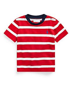ストライプド コットン ジャージー Tシャツ