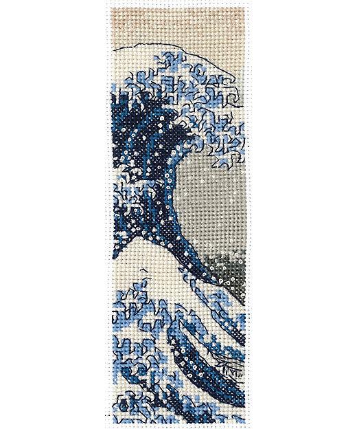 <DMC/ディーエムシー> British Museum×DMC 刺しゅうキット しおりサイズ The Great Wave【三越伊勢丹/公式】