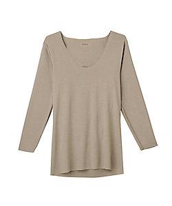SEEK(Men)/シーク 冬用/Uネックロングスリーブシャツ/襟ぐり広め/セーター対応(EE3612A)