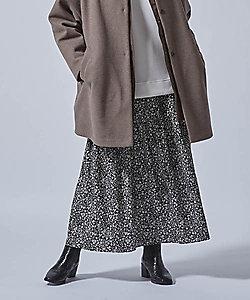 LAUTREAMONT(Women)/ロートレアモン ヴィーナススエードフラワープリントスカート