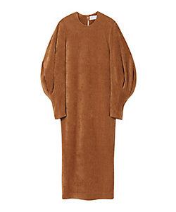 Mame Kurogouchi(Women)/マメ クロゴウチ Ribbed Velour Jersey Dress