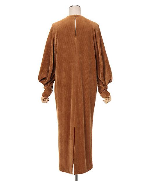 Ribbed Velour Jersey Dress