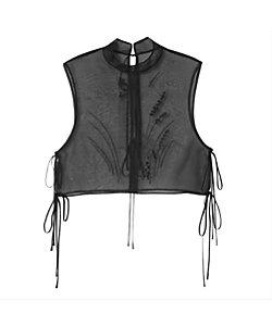 Mame Kurogouchi(Women)/マメ クロゴウチ Floral Jacquard Sheer Vest