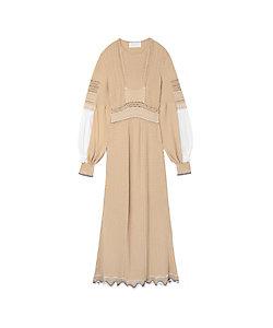 Mame Kurogouchi(Women)/マメ クロゴウチ Curtain Motif Knitted Dress