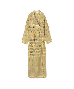 Mame Kurogouchi(Women)/マメ クロゴウチ Floral Watermark Wrap-Front Knitted Dress