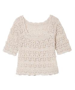 Mame Kurogouchi(Women)/マメ クロゴウチ Floral Watermark Knitted Top