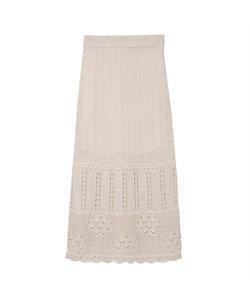 Mame Kurogouchi(Women)/マメ クロゴウチ Floral Watermark Knitted Skirt