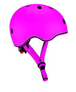 GLOBBER/グロッバー <45~51cm>LEDライト付きヘルメット(ディープピンク)