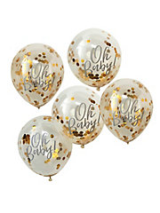 OB-108_Gold_Confetti_Oh_Baby_Balloon-Cut_Out