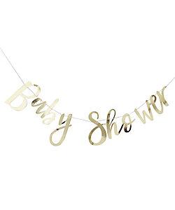 ゴールドフォイル BABY SHOWER バンティング
