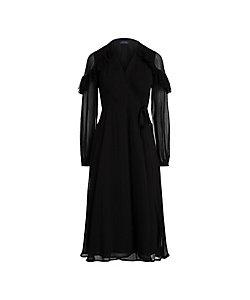POLO RALPH LAUREN WOMENS(Women)/ポロラルフローレン ラッフルトリム ラップ ドレス