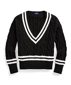 POLO RALPH LAUREN WOMENS(Women)/ポロラルフローレン Vネッククリケットセーター
