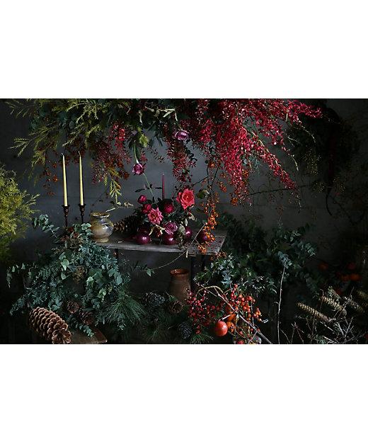 花材セット付き・<ウヴル>の「クリスマススワッグ作り」12月5日(土)14:00~15:30 Zoomオンラインイベント参加チケット