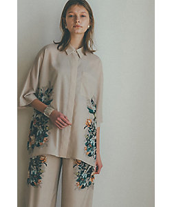 CLANE(Women)/クラネ PANEL FLOWER SHIRT